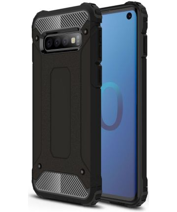 Samsung Galaxy S10 Hoesje Shock Proof Hybride Back Cover Zwart