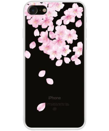 Apple iPhone 7/8 TPU Print Hoesje Falling Flowers Hoesjes