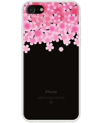 Apple iPhone 7/8 TPU Print Hoesje Peach Blossom