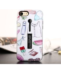 Apple iPhone 7/8 TPU+Hybride Kickstand Print Hoesje Drink & Icecream