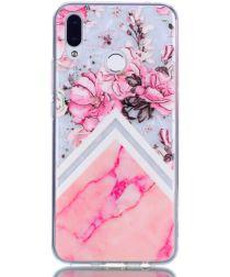 Huawei P Smart Plus TPU Hoesje Pink Flower