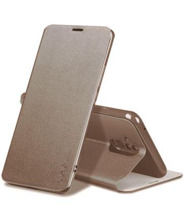 X-Level Flip Huawei Mate 20 Lite Hoesje met Kaarthouder Goud