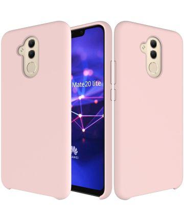 Huawei Mate 20 Lite Siliconen Hoesje Roze Hoesjes