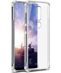 Nokia 7.1 TPU Hoesje met Screen Protector Transparant