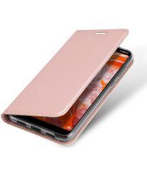 Dux Ducis Premium Book Case Nokia 3.1 Plus Hoesje Roze Goud