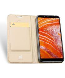 Dux Ducis Premium Book Case Nokia 3.1 Plus Hoesje Goud