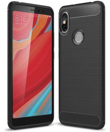 Xiaomi Redmi S2 Geborsteld TPU Hoesje Zwart