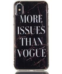 Apple iPhone XS TPU Hoesje met Marmer Opdruk Vogue