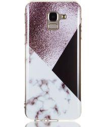 Samsung Galaxy J6 (2018) TPU Hoesje met Marmer Opdruk Bruin