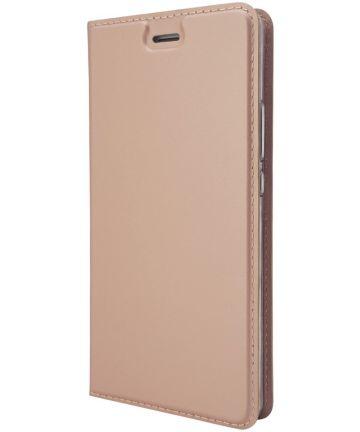 Huawei P9 Lite Luxe Portemonnee Hoesje Goud Hoesjes