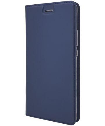 Huawei P9 Lite Luxe Portemonnee Hoesje Blauw Hoesjes