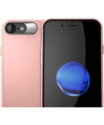 Apple iPhone 8 Hard Cover Matte Roze Hoesjes