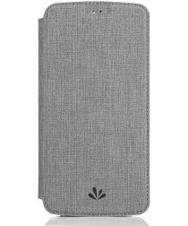 Motorola Moto G6 Plus Portemonnee Hoesje Grijs