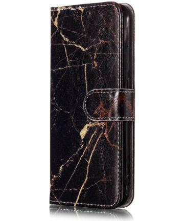 Huawei P20 Lite Portemonnee Hoesje met Marmer Print Hoesjes