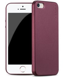 X-Level Guardian Frosted Back Cover Apple iPhone SE Wijn Rood