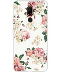 Nokia 7 Plus TPU Back Cover met Bloem Print