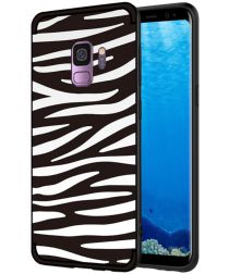 Samsung Galaxy S9 TPU Back Cover met Zebra Print