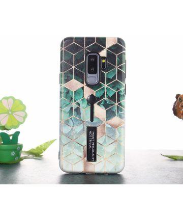 Samsung Galaxy S9 Plus Hybride Hoesje met Kubus Print Hoesjes