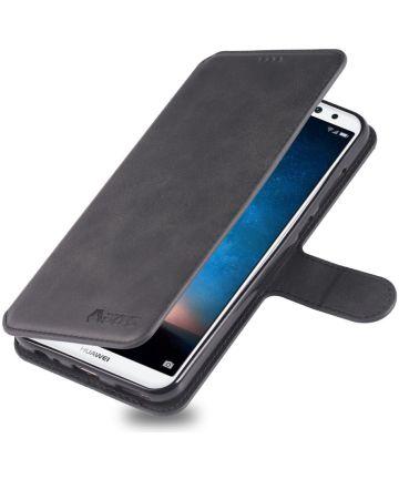 Huawei Mate 10 Lite Portemonnee Hoesje met Standaard Zwart