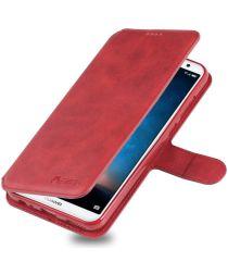 Huawei Mate 10 Lite Portemonnee Hoesje met Standaard Rood