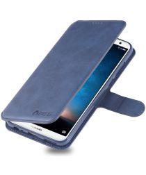 Huawei Mate 10 Lite Portemonnee Hoesje met Standaard Blauw