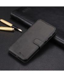Samsung Galaxy A6 Plus Luxe Portemonnee Hoesje Zwart