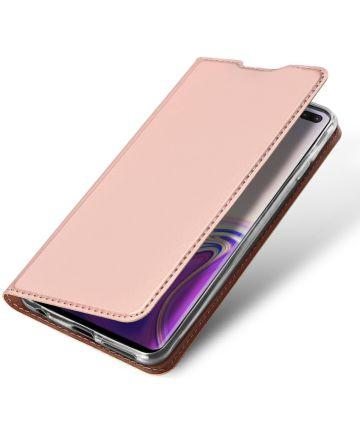 Dux Ducis Book Case Samsung Galaxy S10 Plus Hoesje Roze Goud Hoesjes
