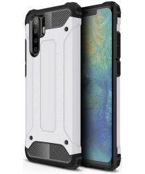 Huawei P30 Pro Hoesje Shock Proof Hybride Backcover Wit