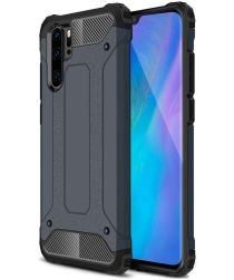 Huawei P30 Pro Hoesje Shock Proof Hybride Backcover Blauw
