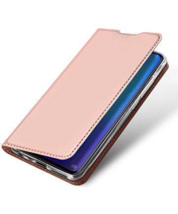 Dux Ducis Book Case Huawei P30 Hoesje Roze Goud