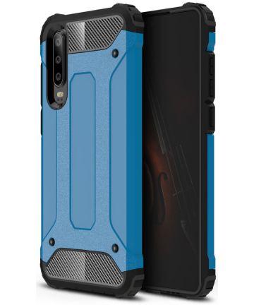 Huawei P30 Hybride Hoesje Blauw Hoesjes