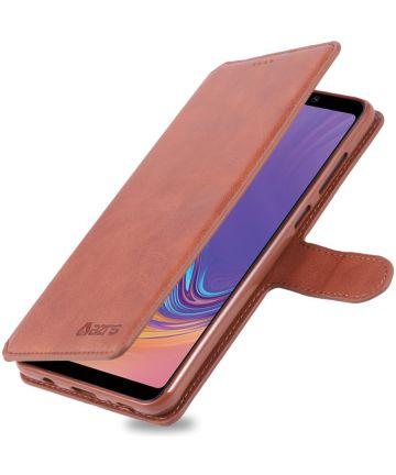 Samsung Galaxy A9 (2018) Stijlvol Portemonnee Hoesje Bruin