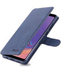 Samsung Galaxy A9 (2018) Stijlvol Portemonnee Hoesje Blauw