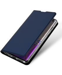 Dux Ducis Premium Book Case Samsung Galaxy S10 Hoesje Blauw