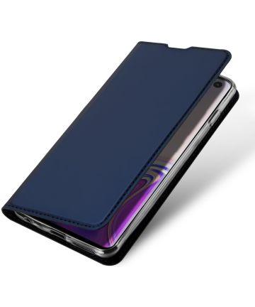 Dux Ducis Premium Book Case Samsung Galaxy S10 Hoesje Blauw Hoesjes