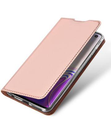 Dux Ducis Premium Book Case Samsung Galaxy S10 Hoesje Roze Goud Hoesjes