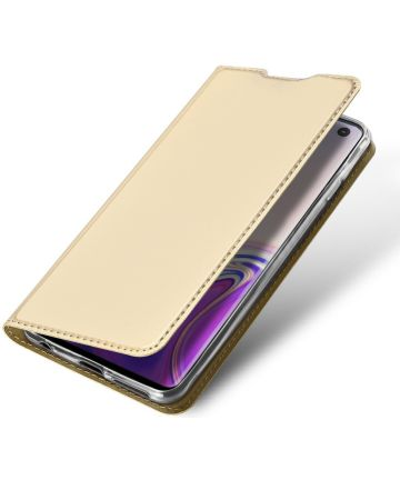 Dux Ducis Premium Book Case Samsung Galaxy S10 Hoesje Goud Hoesjes