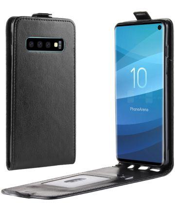 Samsung Galaxy S10 Flip Hoesje Verticaal Zwart Hoesjes
