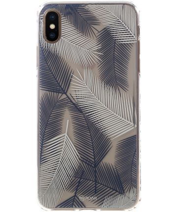 Apple iPhone XS Hybride Hoesje met Bladeren Print