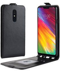 LG G7 Fit Flip Hoesje Verticaal Zwart