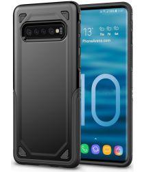 Samsung Galaxy S10 Stijlvol Hybride Hoesje Zwart