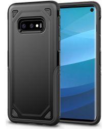 Samsung Galaxy S10E Stijlvol Hybride Hoesje Zwart