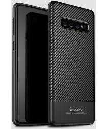 Samsung Galaxy S10 Carbon TPU Hoesje Zwart