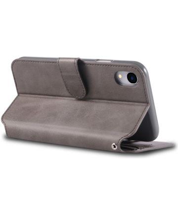 Apple iPhone XR Portemonnee Hoesje Grijs