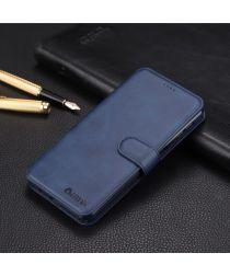 Samsung Galaxy A7 (2018) Luxe Portemonnee Hoesje Blauw