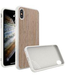 RhinoShield SolidSuit Light Walnut iPhone XS Hoesje