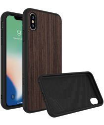 RhinoShield SolidSuit Dark Walnut iPhone XS Max Hoesje