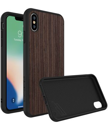 RhinoShield SolidSuit Dark Walnut iPhone XS Max Hoesje Hoesjes