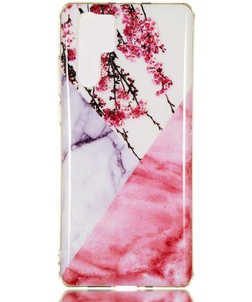 Huawei P30 Pro TPU Hoesje met Marmer Opdruk Blossom Hoesjes