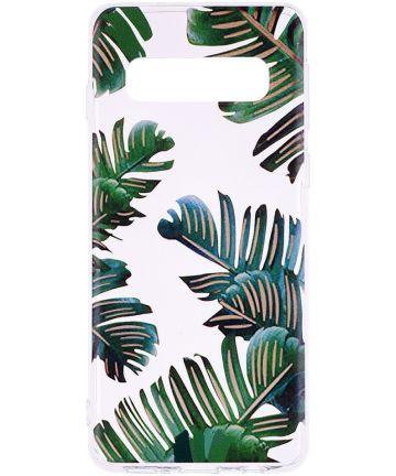Samsung Galaxy S10 Print TPU Hoesje Bladeren Hoesjes
